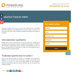 Traduction Français Italien Powerling