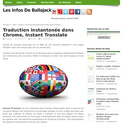 Traduction instantanée dans Chrome, Instant Translate