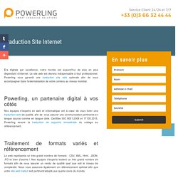 Traduction Site Internet Powerling