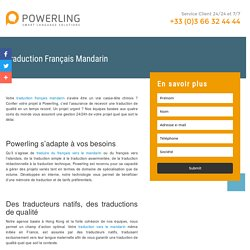 Traduction Mandarin Français Powerling