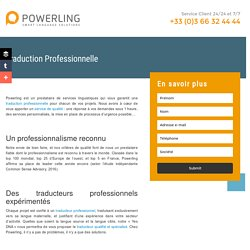 Traduction Professionnelle Powerling