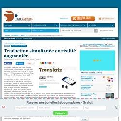 Traduction simultanée en réalité augmentée