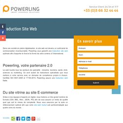 Traduction Site Web Powerling