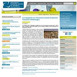 Loi espagnole sur l'économie sociale (traduction française à télécharger)
