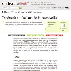 Traduction : De l'art de faire sa veille