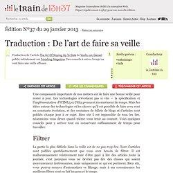 Traduction : De l'art de faire sa veille