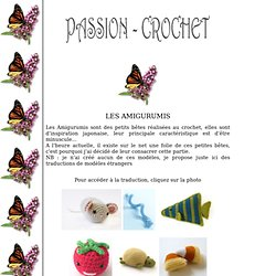 Traductions d'Amigurumis au Crochet
