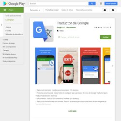 Traductor de Google - Apps en Google Play