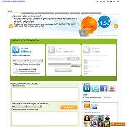 Traductor Opentrad - Primer traductor en código abierto de textos y documentos