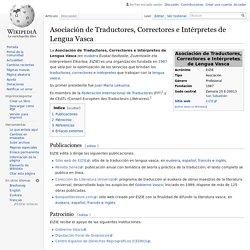 Asociación de Traductores, Correctores e Intérpretes de Lengua Vasca