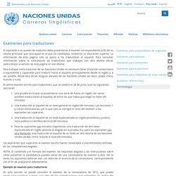 NACIONES UNIDAS Carreras lingüísticas