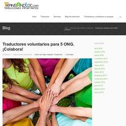 Traductores voluntarios para ONG