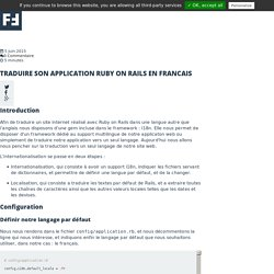 Traduire son application Ruby on Rails en francais