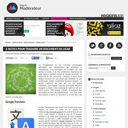 3 outils pour traduire un document en ligne