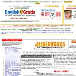 CLASSICI IN INGLESE IN FORMATO AUDIOBOOK CON TRADUZIONE INTERATTIVA