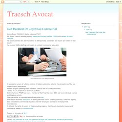Traesch Avocat: Non Paiement De Loyer Bail Commercial