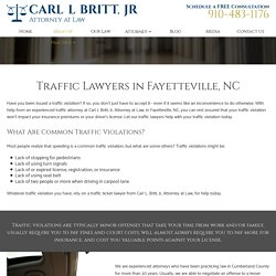 Traffic Attorney in Fayetteville, NC