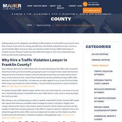 Traffic Ticket Attorney in Franklin County
