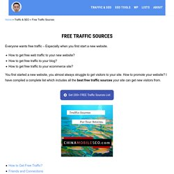 Best Free Traffic Sources (in 2021) - Complete List for Websites