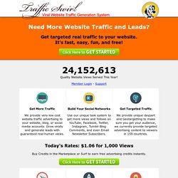 Traffic Swirl - Website Traffic Generation System. Best Free Traffic Exchange.