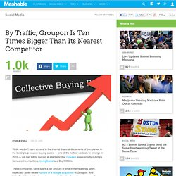 By Traffic, Groupon Is Ten Times Bigger Than Its Nearest Competitor