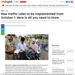 New traffic rules to be implemented from October 1: Here is all you need to know