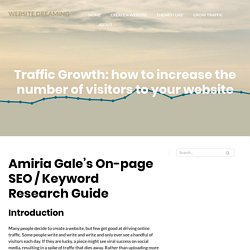 Traffic Growth: how to increase the number of visitors to your website