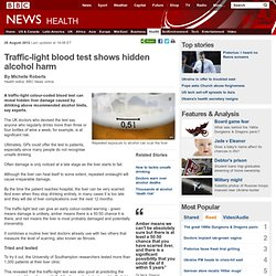 Traffic-light blood test shows hidden alcohol harm