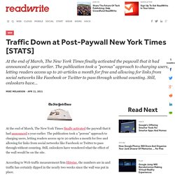 Traffic Down at Post-Paywall New York Times [STATS]