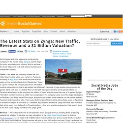 The Latest Stats on Zynga: New Traffic, Revenue and a $1 Billion Valuation?
