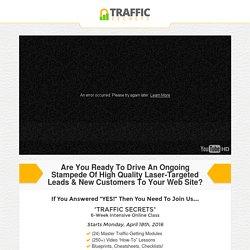 Traffic Secrets Class Registration
