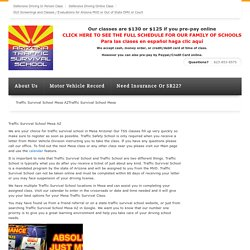 Traffic Survival School Mesa AZ -Traffic Survival School Phoenix AZ