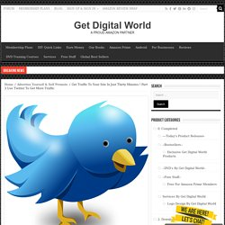 Get Traffic To Your Site In Just Thirty Minutes ! Part 3 Use Twitter To Get More Traffic