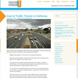 Cost of Traffic Tickets in California