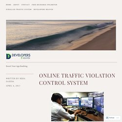 Online Traffic Violation Control System