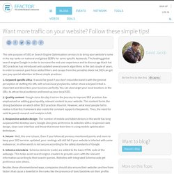 Want more traffic on your website? Follow these simple tips!
