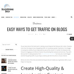Easy Ways To Get Traffic To Your Website