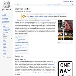 One-way traffic