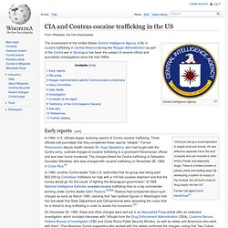 Wikipedia: CIA and Contras cocaine trafficking in the US