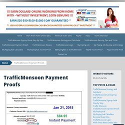 TrafficMonsoon, My Paying Ads, Work From Home