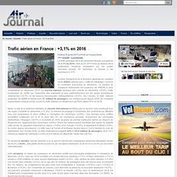 Trafic aérien en France : +3,1% en 2016
