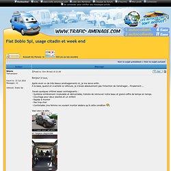 Fiat Doblo 5pl, usage citadin et week end