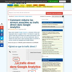 Le trafic direct dans Google Analytics (accès directs)