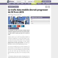 Le trafic data mobile devrait progresser de 59 % en 2015