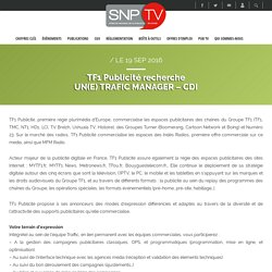 UN(E) TRAFIC MANAGER - CDI - SNPTV / Publicité TV