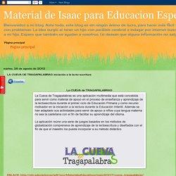 Material de Isaac para Educacion Especial: LA CUEVA DE TRAGAPALABRAS iniciación a la lecto-escritura