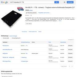 "We WE-FI - 1 TB - schwarz - Tragbare externe Multimedia-Festplatte 2,5"""