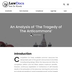 Analysis of Tragedy of The Anticommons