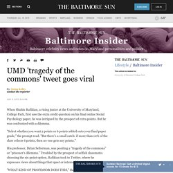 UMD 'tragedy of the commons' tweet goes viral