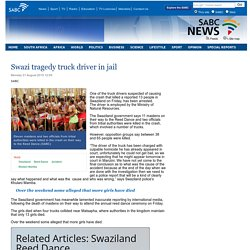 Swazi tragedy truck driver in jail:Monday 31 August 2015